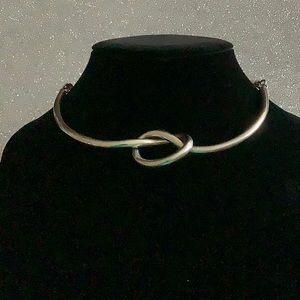 Silver knot choker